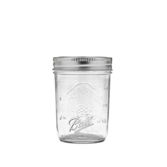 Ball mason jar half pint glasburk