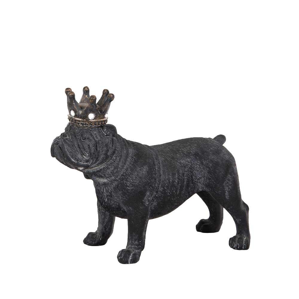 Bulldog med krona