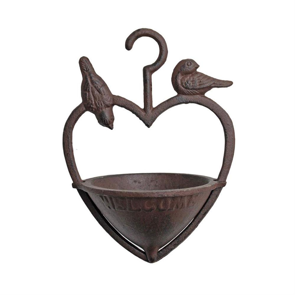 Fågelbad järn hjärta