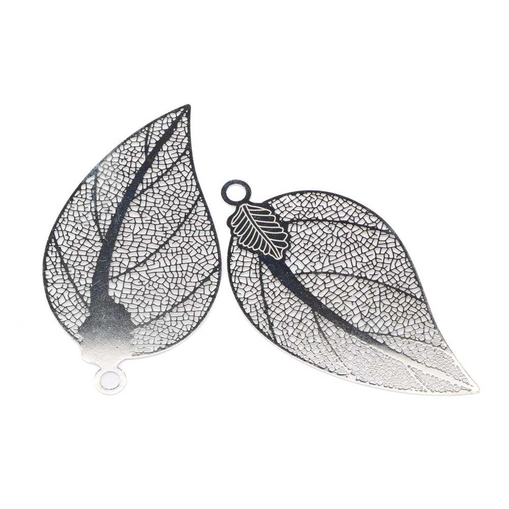 hängsmycke silver löv