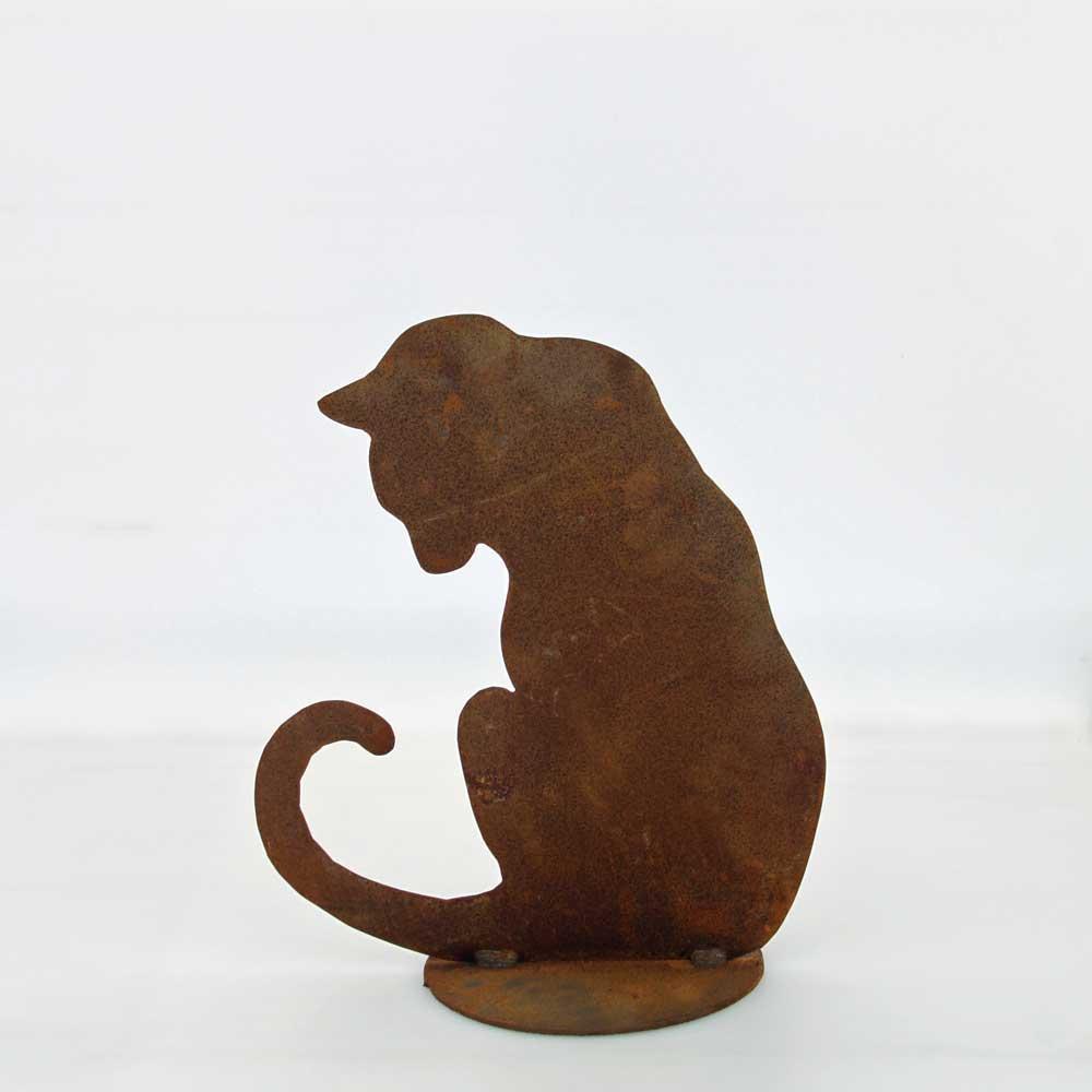Katt siluett rostig