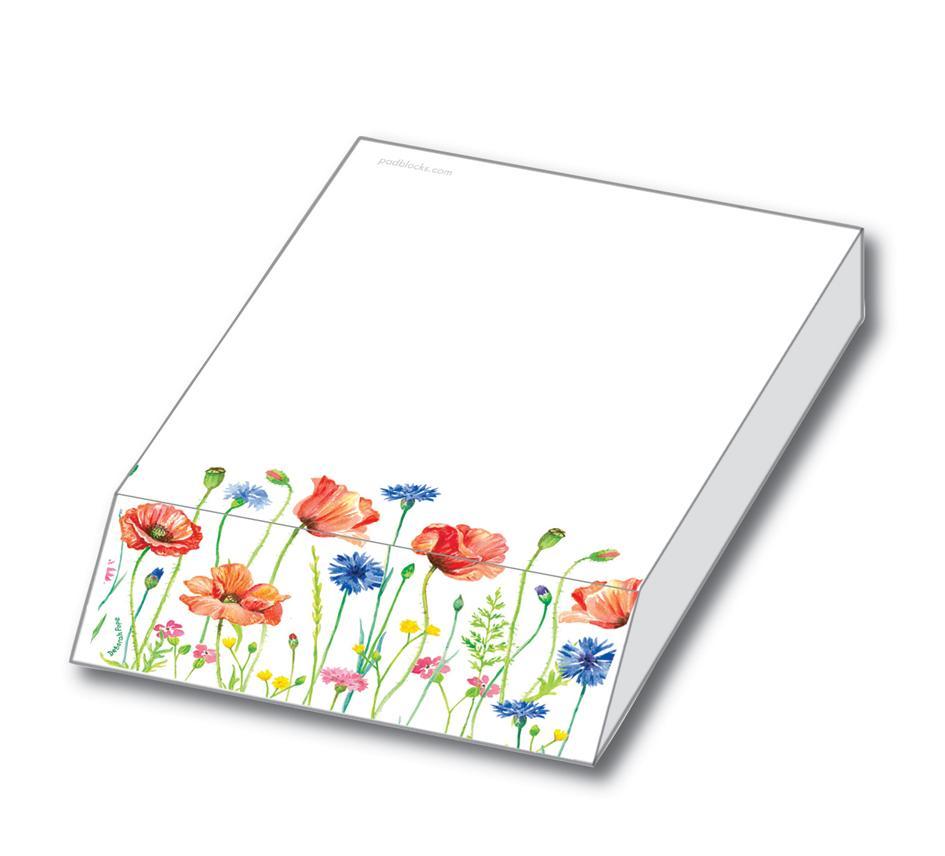 Skrivblock blommor