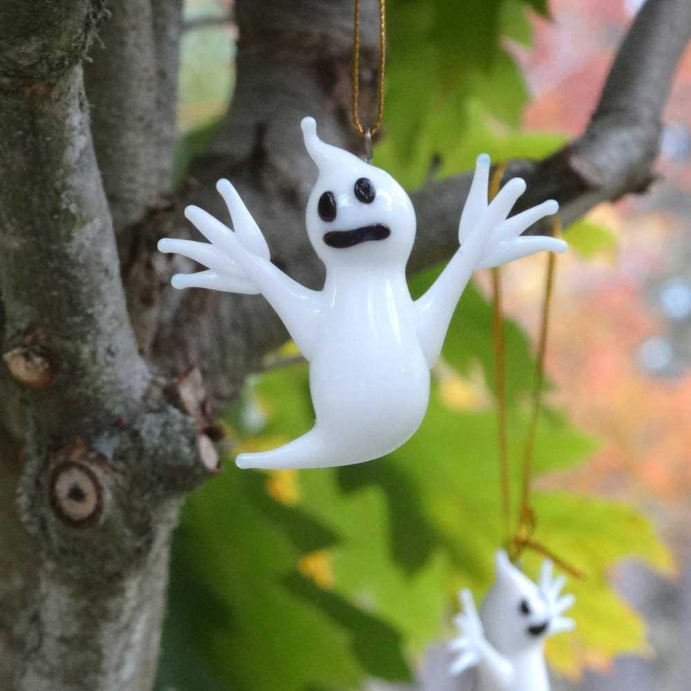Hängande prydnad spöke i glas
