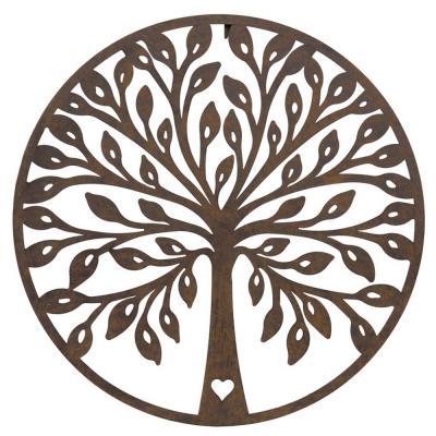 Ek Livets träd siluett väggdekoration