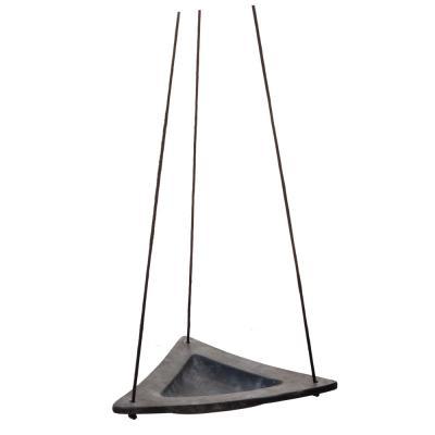 Eldgarden trekantigt fågelbad hängande