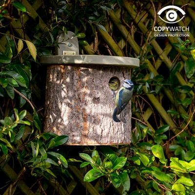 Fågelholk trä rund stock