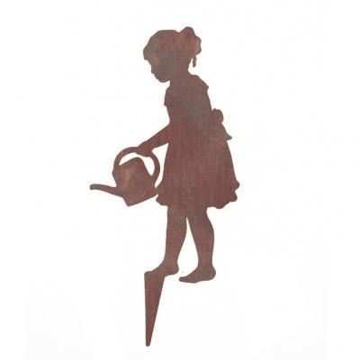 Flicka med vattenkanna