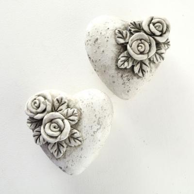 Hjärta betong gravdekor