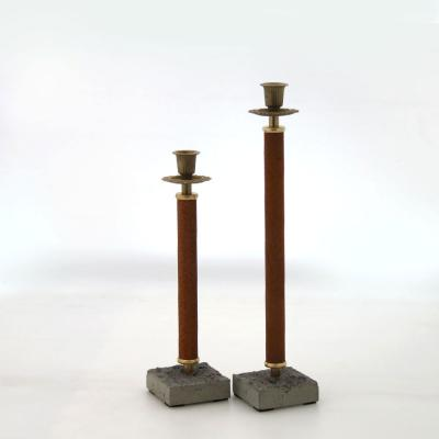 ljusstake rost betongfot