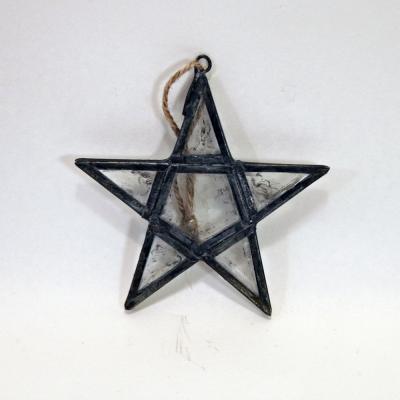 Stjärna glas metallinfattning