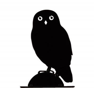 Fågelskrämma uggla siluett
