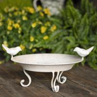 Fågelbad vitt