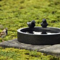 Fågelbad svart