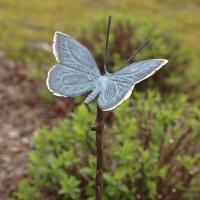 Fjäril i brons på pinne