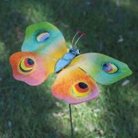 Fjäril målad plåt