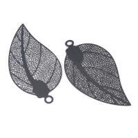 Hängsmycke löv svart