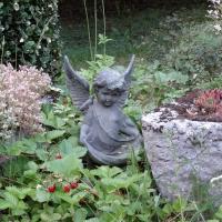Kerub Ängel med fåglar Gjutjärn