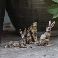 Tre små harar dekoration